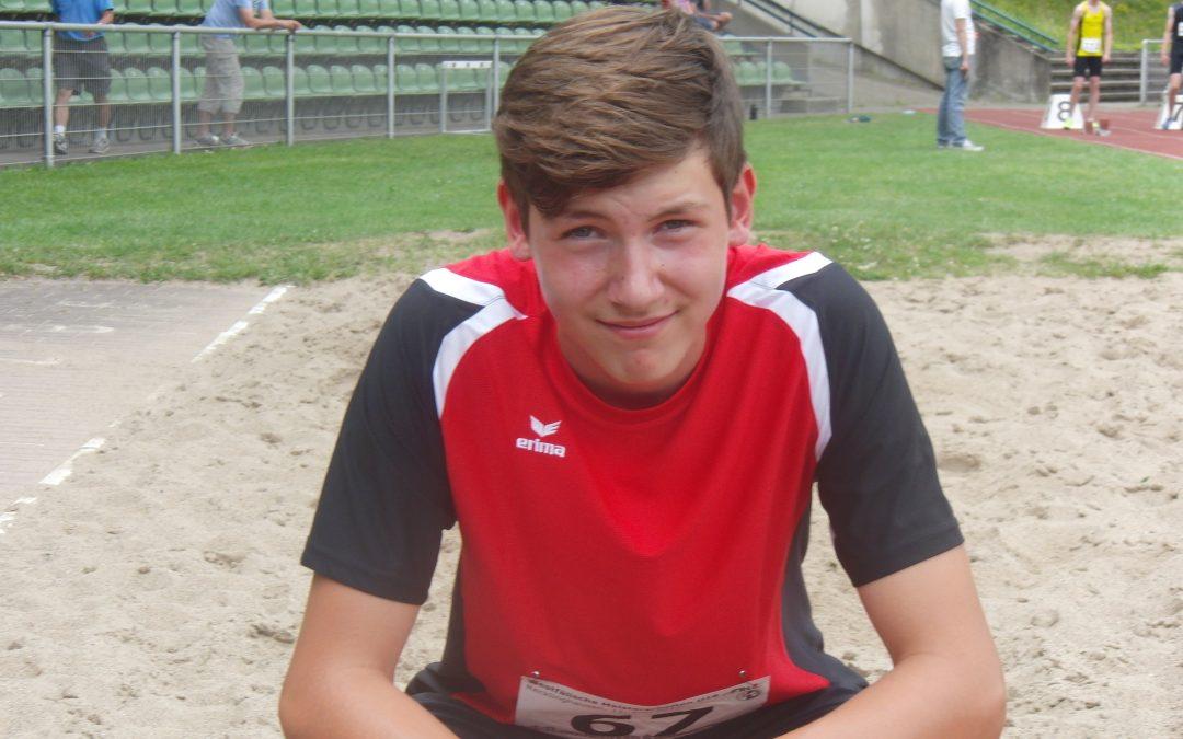 Justin Brand vom SuS Enniger startet bei den Deutschen Jugendmeisterschaften U18